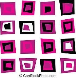 Un fondo sin marcas o un patrón con cuadrados rosados
