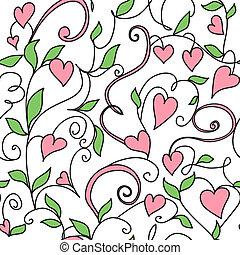 Un fondo sin semen con adornos de corazones