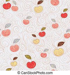 Un fondo sin semen con manzanas