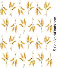 Un fondo sin semen con orejas de trigo
