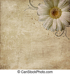 Un fondo sucio con flores