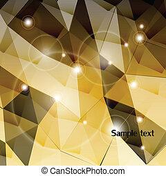 Un fondo triangulo dorado. Vector