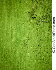 Un fondo verde de textura de madera