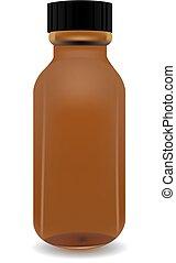 Un frasco médico para medicinas