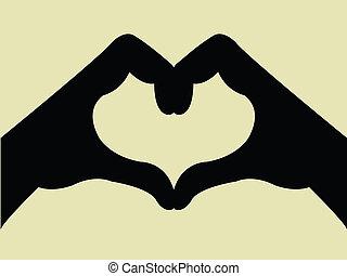 Un gesto con forma de corazón