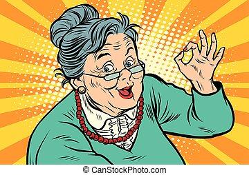 Un gesto de abuela, los ancianos
