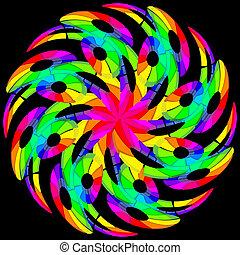 Un giro de color hipnótico