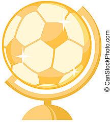 Un globo de fútbol de oro
