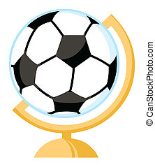 Un globo de fútbol