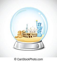 Un globo de viajes
