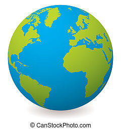 Un globo terrestre natural