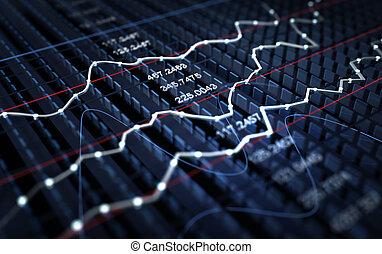 Un gráfico del mercado de valores
