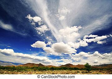 Un gran cielo azul