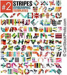 Un gran conjunto de plantillas de información de rayas # 2