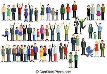 Un gran grupo de gente