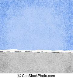 Un grunge azul claro rasgando fondo texturizado