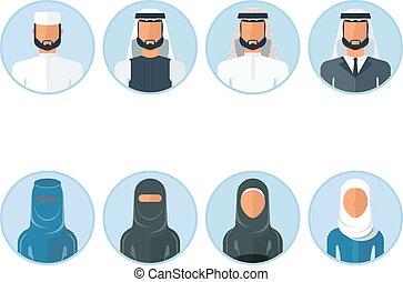 Un grupo de íconos árabes