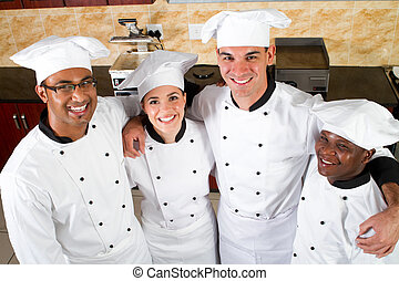 Un grupo de chefs profesionales