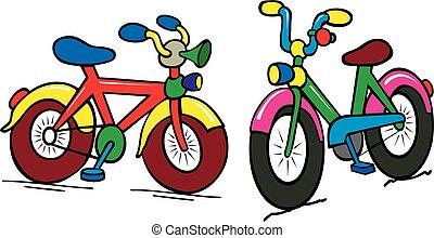 Un grupo de chicos de color en bicicleta
