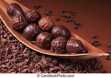 Un grupo de chocolate