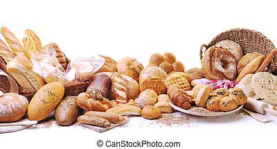 Un grupo de comida para pan fresco
