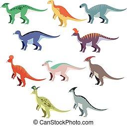 Un grupo de dinosaurios pato