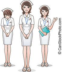 Un grupo de enfermeras lindas