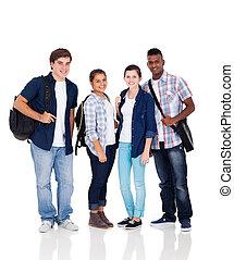 Un grupo de estudiantes de secundaria