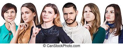 Un grupo de gente considerada