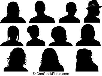Un grupo de hombres y mujeres