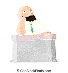 Un hombre aburrido en el escritorio