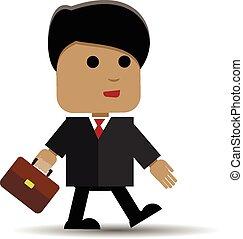 Un hombre con un maletín