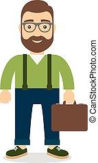 Un hombre con un maletín en la mano.