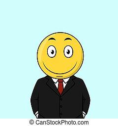 Un hombre de negocios muy feliz