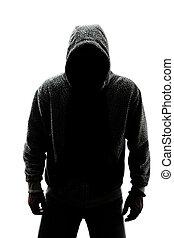 Un hombre misterioso en Silueta