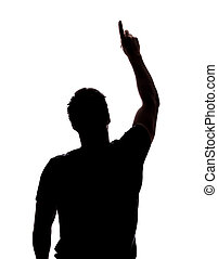 Un hombre señalando