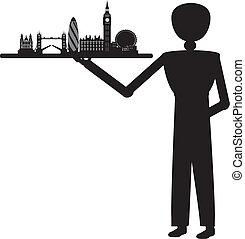 Un hombre sirviendo a Londres