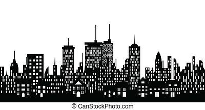 Un horizonte urbano de una ciudad