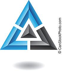 Un icono abstracto triangle pirámide
