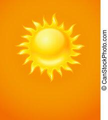 Un icono amarillo caliente
