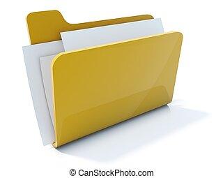 Un icono amarillo completo aislado en blanco