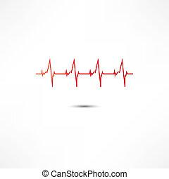 Un icono cardiograma