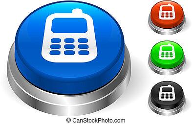 Un icono celular en el botón de Internet