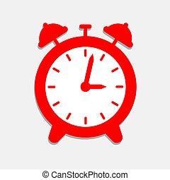 Un icono de alarma roja