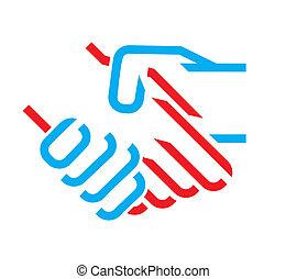 Un icono de apretón de manos