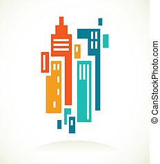 Un icono de bienes raíces y un elemento