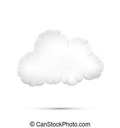 Un icono de Cloud 3d en un fondo blanco, ilustración de Vector