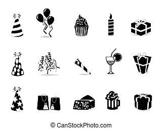Un icono de cumpleaños negro