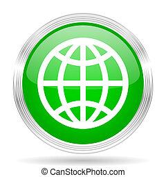 Un icono de diseño moderno de la Tierra