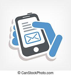 Un icono de e-mail inteligente